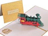 Popcards popupkaarten - Locomotief trein NS spoorwegen pop-up kaart