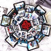 Vouwbaar Liefdes/Relatie Cadeau + Accessoires - Love Gift - Do It Yourself Hexagon Cadeau Box - Knutselen - Relatiegeschenk - Trouwen - Foto's - Kerst - Valentijnsdag - Feestdagen - Moederdag - Vaderdag