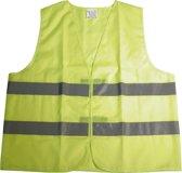 Dresco - Veiligheidhesje - Reflectie -Fluor geel - Maat XL