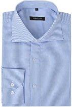 vidaXL Zakelijk overhemd heren wit en blauw gestreept maat XL
