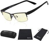 Duco Bril voor gamers met blauwfilter en UV veiligheidsbril -  Beeldschermbril met bernsteinglas