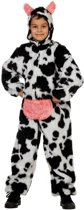 Carnavalskleding dierenpak Koe plusch koeienpak kind Maat 116