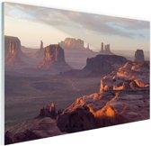 FotoCadeau.nl - The Hunt's Mesa Amerika Glas 120x80 cm - Foto print op Glas (Plexiglas wanddecoratie)