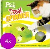 Catit Play Treat Spinner - Kattenspeelgoed - 4 x 19.5 x 19.5 x 5.8 cm Wit Groen