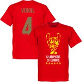 Liverpool Trophy Virgil 4 Champions of Europe 2019 T-Shirt - Rood - S