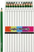Colortime Kleurpotloden, vulling: 5 mm, groen, Jumbo, 12 stuks