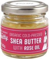 Organic Cold Pressed Shea Butter met Rose Oil - 60 gram
