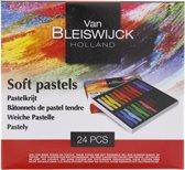 Pastelkrijt  - Professioneel Van Bleiswijck Holland - Pastelkrijtjes - 24 stuks - Soft Pastels - Zacht - Krijtjes - Professionele Kleurkrijtjes - voor volwassenen