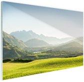 FotoCadeau.nl - Heuvellandschap Nieuw-Zeeland  Glas 30x20 cm - Foto print op Glas (Plexiglas wanddecoratie)