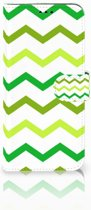 Samsung Galaxy S9 Plus Uniek Boekhoesje Zigzag Groen
