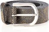 Python Metallic Print Goud Damesriem 3cm Mt. Art. 30164 | Tannery Leather