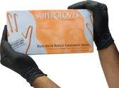 Supergloves Black nitril disposable handschoenen (Maat: L)