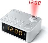 Muse M-178 PW wit wekker radio met projectie