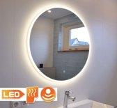 Ronde badkamerspiegel met LED verlichting, verwarming, touch sensor en dimfunctie 60x60 cm