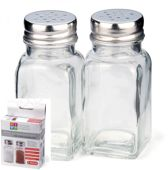 Spice shaker glas met roestvrij staal