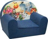 Luxe kinderstoel - kinderfauteuil - sofa - 60 x 45 - donker blauw - Madagaskar