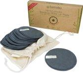 10 XL Wasbare Bamboe Make-Up Pads (Herbruikbare  Wattenschijfjes / Afschminkpads) - Met XL Waszak
