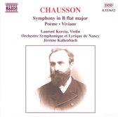 Chausson: Sym. Op20 Poeme Etc.