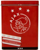 Ajax Pleisters In Metalen Doos 18-delig Wit/rood