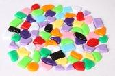 Kunststof mozaiek steentjes 1000 gram mix-kleuren