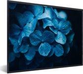 Foto in lijst - Dramatische hortensia foto fotolijst zwart 40x30 cm - Poster in lijst (Wanddecoratie woonkamer / slaapkamer)