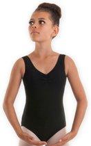 Balletpakje CLASSIC in zwart voor meisjes | Zonder mouw | Kinderen | Maat 122/128 - 10 jaar