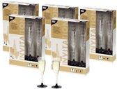 Plastic champagne glazen - 100 stuks - wegwerp champagneglazen