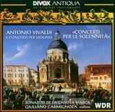 Vivaldi: Concerti Per Le Solennita, 6 Violin Cti