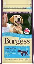 Burgess dog sensitive puppy kalkoen / rijst hondenvoer 2 kg