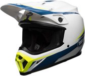 Bell Crosshelm MX-9 MIPS® Gloss White/Blue/Yellow Torch-L