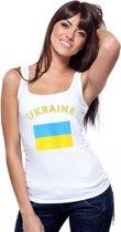 Witte dames tanktop Oekraine S
