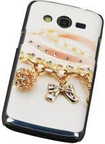 3D Hardcase met Diamant Galaxy Core LTE G386F Armband - Back Cover Case Bumper Hoesje