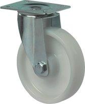 Kelfort Zwenkwiel polyamide wiel met rollager, wit 125kg 100mm (Prijs per 2 stuks)