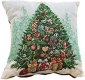 Decoware Sierkussenhoes Kerstboom