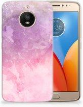 Motorola Moto E4 Plus TPU Hoesje Design Pink Purple Paint