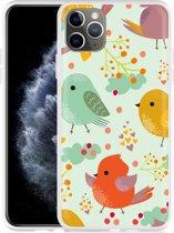 Apple iPhone 11 Pro Max Hoesje Cute Birds