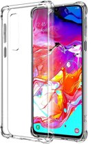Ntech Samsung Galaxy A70 Transparant Anti Burst Hoesje / Shock Proof Crystal Clear TPU Case