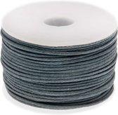 Waxkoord (0.5 mm) Stone Blue Grey (25 Meter)
