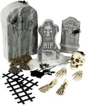 Skeletten graf set - Feestdecoratievoorwerp