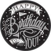 18 Papieren borden met de tekst Happy Birthday
