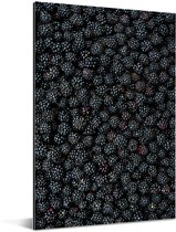 Grote zee van zwarte bramen Aluminium 60x90 cm - Foto print op Aluminium (metaal wanddecoratie)