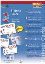 4x Decadry visitekaarten OneClick standaard