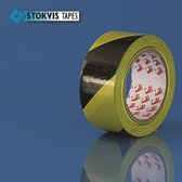 Stokvis Markeringstape 50mm x 33M Geel/Zwart
