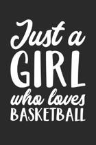 Just A Girl Who Loves Basketball Training Journal - Gift for Basketball Player - Basketball Notebook - Basketball Diary: Unruled Blank Journey Diary,