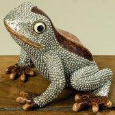 Kikker - Zilver - Bruin - 10 cm