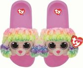 Ty Fashion - Beanie Babies - Kinderslippers - Rainbow the Poodle - Maat M (32-34)