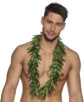 6x Hawaii kransen slingers cannabis blaadjes - hippie/rasta verkleed kransen