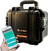 Jarocells JARO-BTP50.12B Portable 12V 50A lithium Accu in zwarte Storm Case