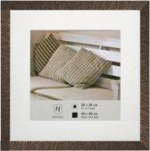 Fotolijst - Henzo - Driftwood - Fotomaat 40x40 - Donkerbruin