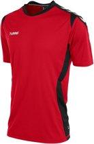 Hummel Paris T Shirt - Rood/Black - Kinderen - Maat 152